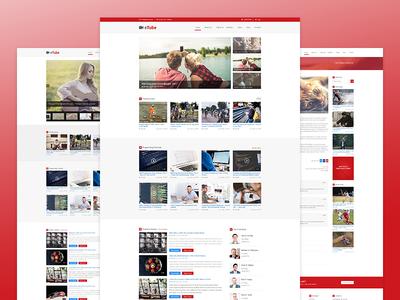 eTube - HTML5 Video Blog/ Magazine / Entertainment Site Template
