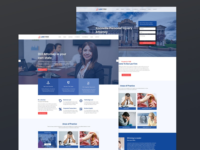 Law Firm - Lawyer, Business PSD Template by themeix on Dribbble