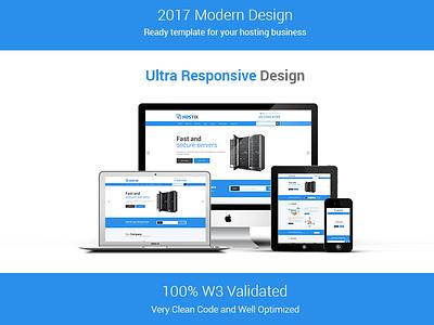 Hostix - Responsive Hosting Website HTML5 Template bootstrap web design html5 site template website hosting website themeix hostix