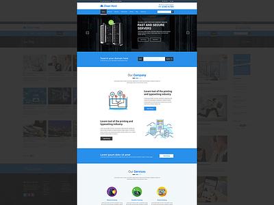 Cleanhost - Responsive Web Hosting HTML5 Template webhosting site technology startup shared hosting responsive multipurpose minimal hosting website hosting domain creative bootstrap