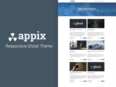 Appix - Super Fast Responsive Ghost Blog Theme website blogging blog theme ghost theme web design ux ui ghost