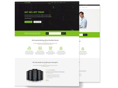 Hosting Pro - Hosting Business Website HTML5 Template whmcs. hosting theme professional template premium hosting hosting website hosting host creative hosting corporate website clean hosting business website