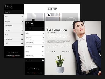 Tfolio - Personal Portfolio & CV / Resume Site Template white seo resume portfolio personal one page minimal isotope html5 cv black