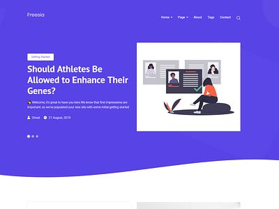 Freesia - Responsive Modern Ghost Blog Theme html bootstrap4 modern theme ghost