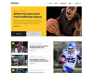Protea - HTML Magazine Site design bootstrap 4 bootstrap blogging blog creative website html5 html