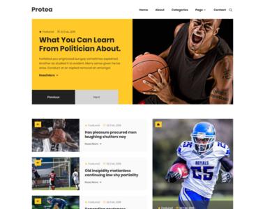 Protea - HTML Magazine Site