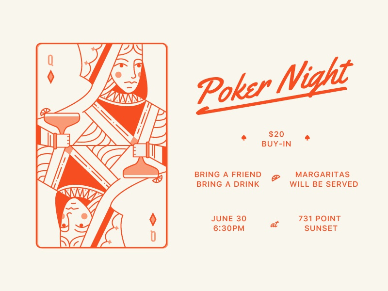 Poker Night Invite byob cards queen margarita invite poker