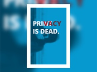 Privacy Is Dead Poster