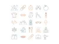 Icon Set Camping (Color)