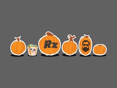 Pumpkinpalooza at RZ office autumn fall halloween carving pumpkins pumpkin