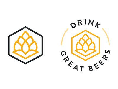 Drink Good Beers cap bottle bottle cap beer bottle mockup coaster mark logo icon hops home brewing brewing brewery logo brewery brew beers beer