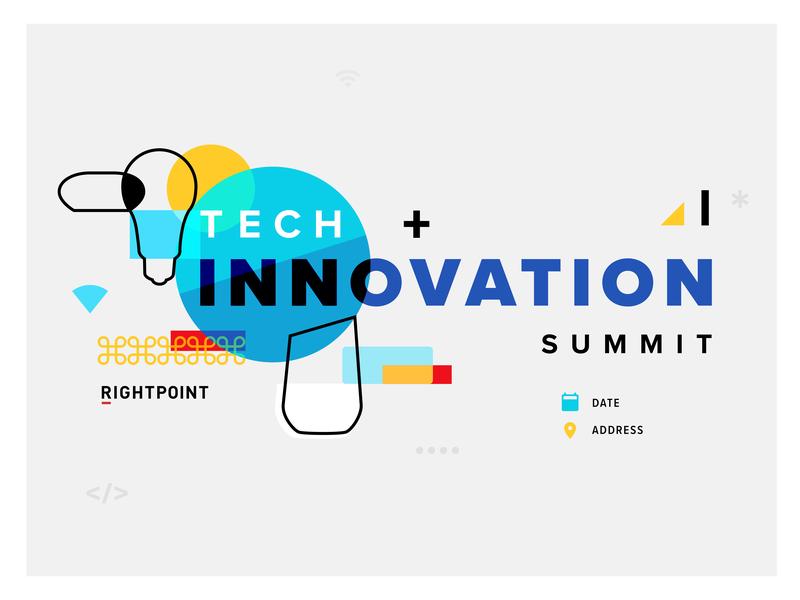 Tech Summit overlay layered google mini google home google smart home abstract minimal invitation invite poster summit innovation tech event branding event