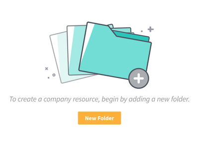 Add a New Folder no data file extensions file types add flat folders outline dominion branding colors iconography icons