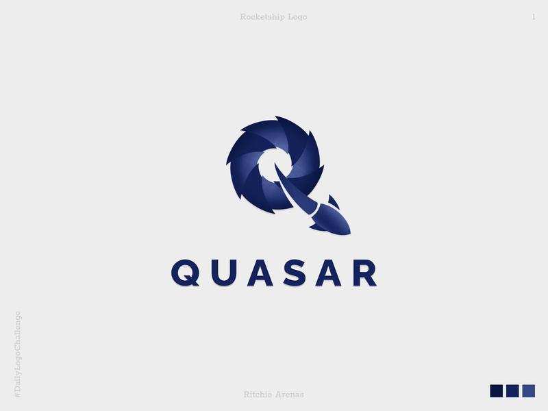 Quasar - Daily Logo Challenge 1/50 dailylogochallenge flat minimal icon typography vector branding illustration design logo