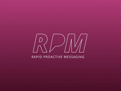 rapid proactive messaging branding design logo