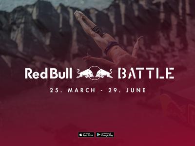 Red Bull Battle typography branding app logo campaign design