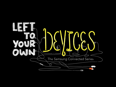 """""""Devices"""" final film title treatment film handtype lettering"""