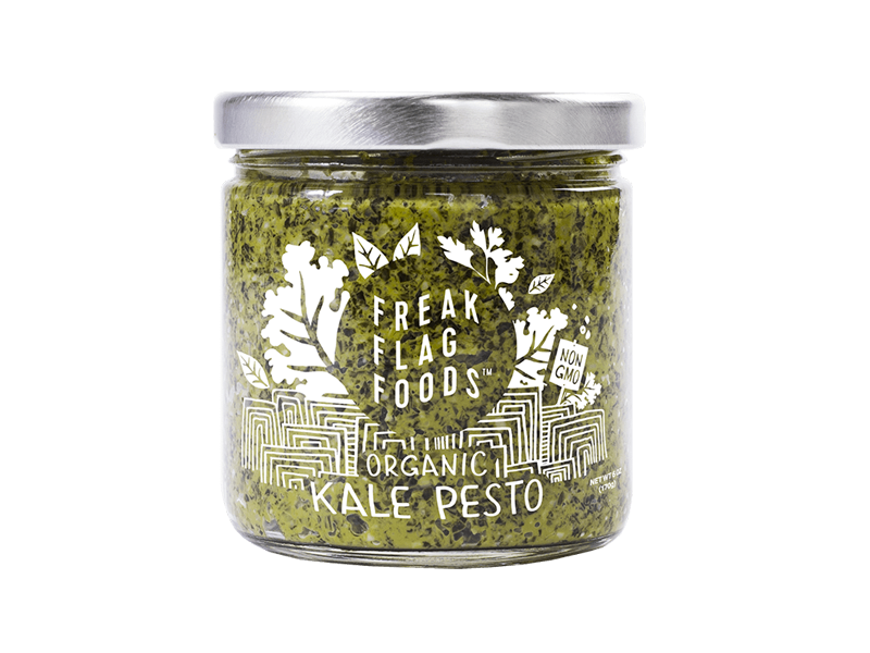 Freak Flag Foods branding illustration packaging
