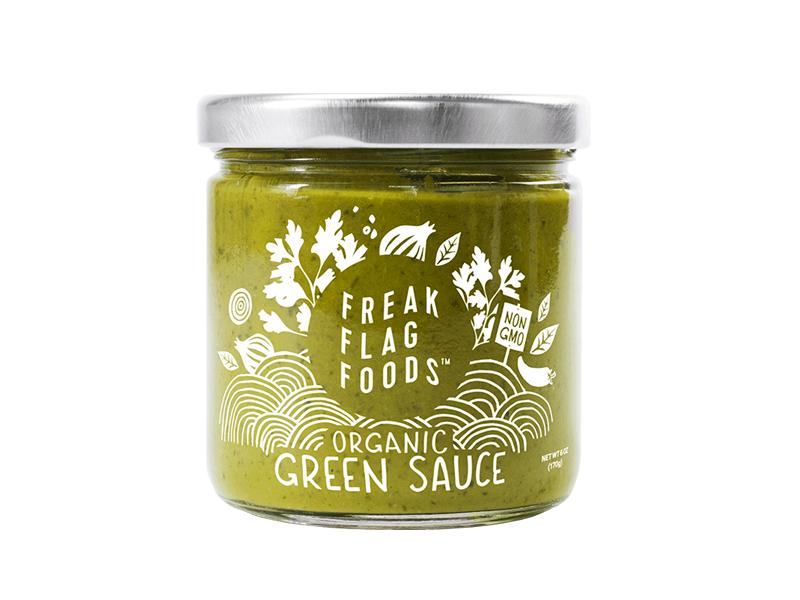 Freak Flag Foods branding illustration packaging