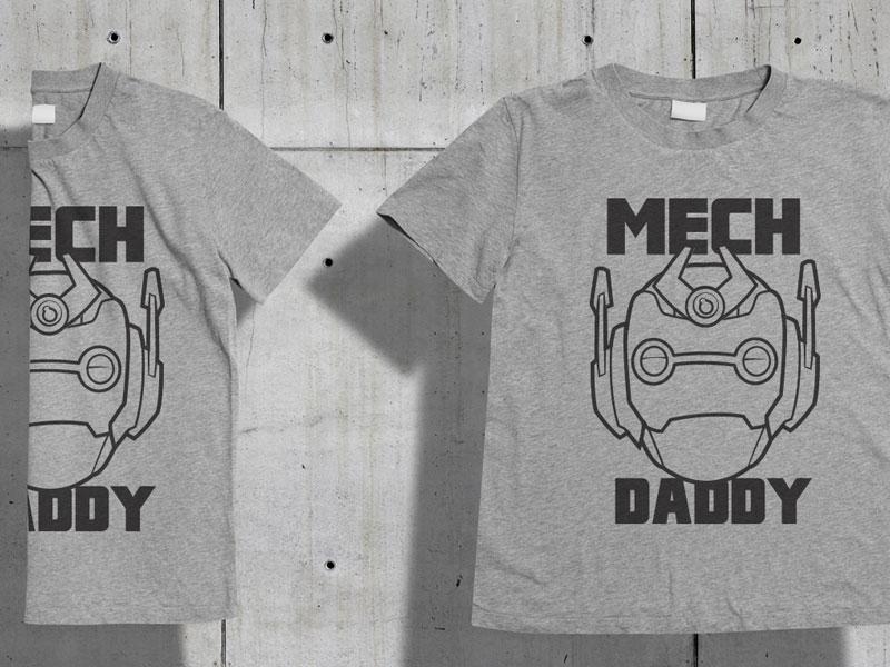 Mech daddy T-Shirt design t-shirt mech emoji icons avatar robot