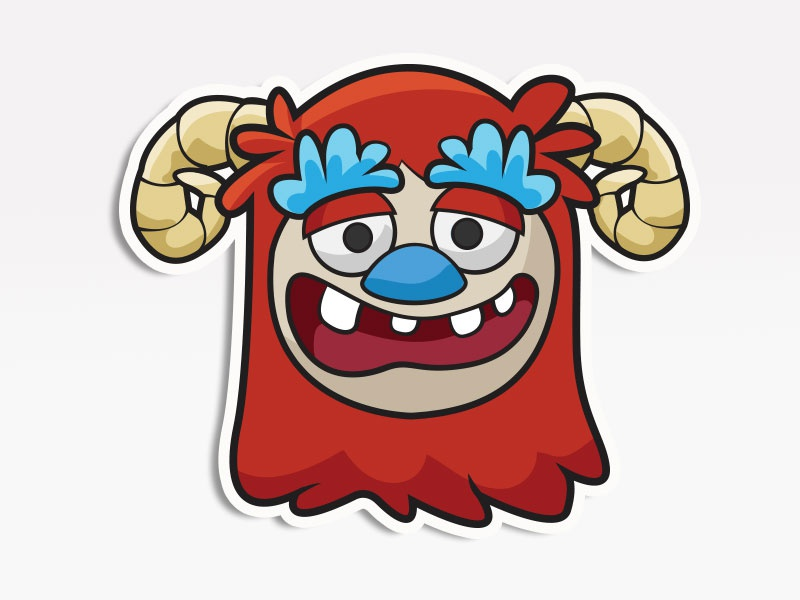 Big Red Monster creative market monsters. stickers emoticon emoji avatar