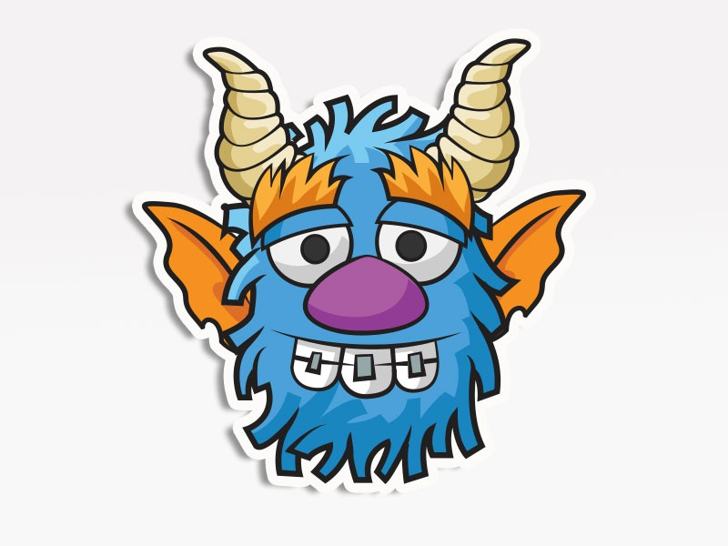 Brace Face Monster creative market monsters. stickers emoticon emoji avatar