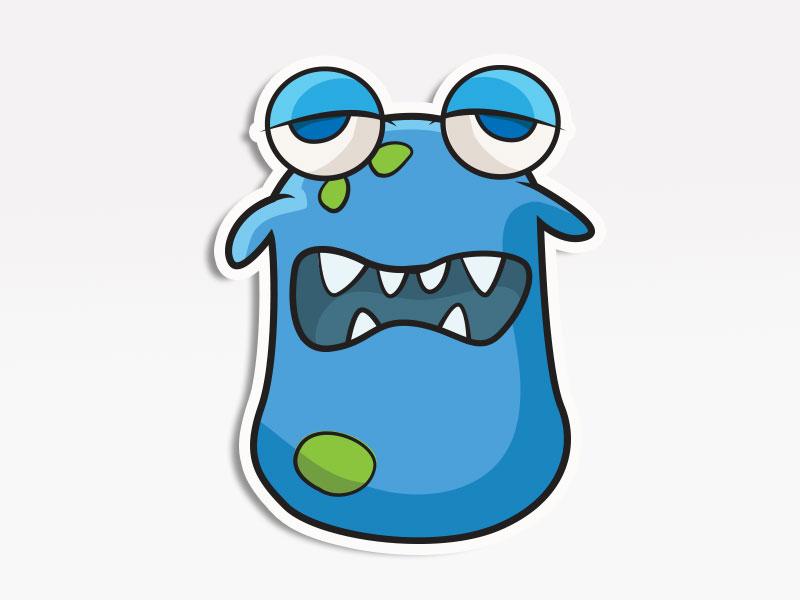 Slugg Monster creative market monsters. stickers emoticon emoji avatar
