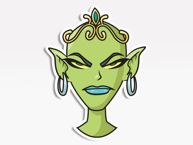 Goblin Queen vector icons digital pack stickers emojis emoji avatars creative market cosplay
