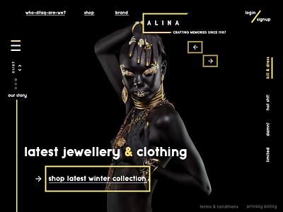 Alina website concept app branding typography graphic concept website design minimal sketch web ux ui