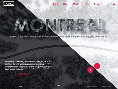 Travel Website UI design travel design website interface web ux ui