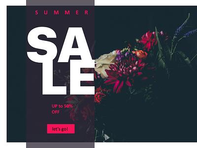 Sale page for lingerie brand floral illustration component daily ui responsive flat design photoshop sketch minimal sale ux ui