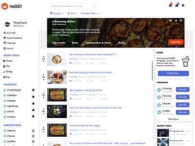 Reddit Redesign redesign reddit typography graphic concept website design minimal sketch web ux ui