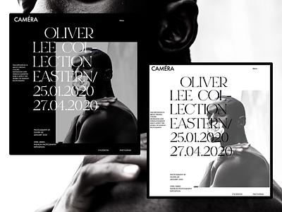 CAMÉRA - fashion photography exhibition web branding flat concept clean fashion typogaphy minimal website ux ui