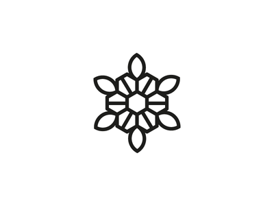 Panal plant nature honeybee honey panal flower isotype branding ilustration logodesign logo design icon blackandwhite vector
