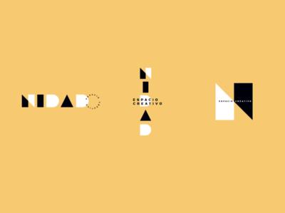 Nidad, espacio creativo woman lettern geometric place workshop brand typography icon design logodesign vector