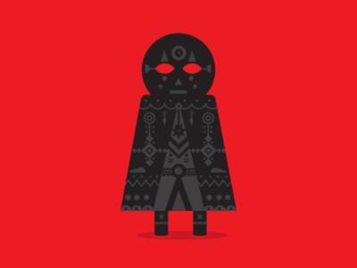Misterio wizard flatdesign eye magic ilustration vector man