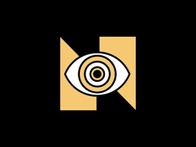 learn brand logotype eyes ojo learn eye isotype typography ilustration logo vector