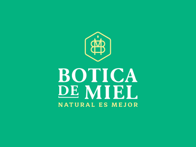 Botica de miel monogram honeybee brand design identitydesign packaging branding type logodesign logo