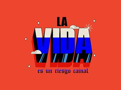 La vida life red tipografia vector phrases gothic colors lettering typography design typedesign type ilustration