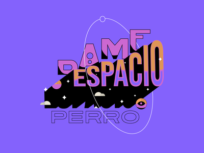 Living space tipografia black stars letter space purple colors type lettering design typographic design typography vector ilustration