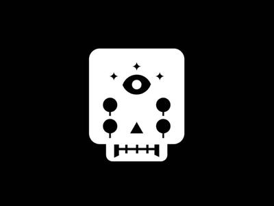 Magic Skull mistic eye magic craneo skull ilustration icon design blackandwhite vector