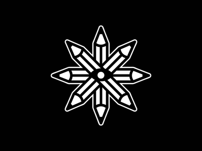 united illustrators society lapiz sticker ilustrator eye pencil branding logo design icon blackandwhite vector