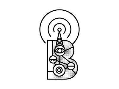 Feel antenna eyes eye signal letterb illustration ilustracion branding logodesign ilustration logo design icon blackandwhite vector