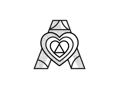 love work point heart lettera typea isotype typography illustration logodesign ilustration icon blackandwhite vector