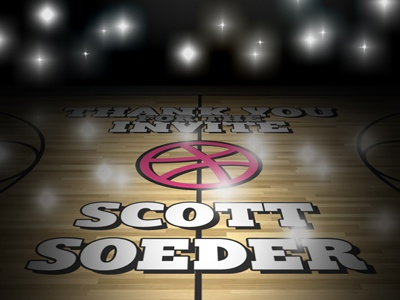 Thank You Scott Soeder dribbble thank you thanks dribbble invite invite court debut
