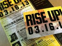 Rise Up Postcard & Flyer