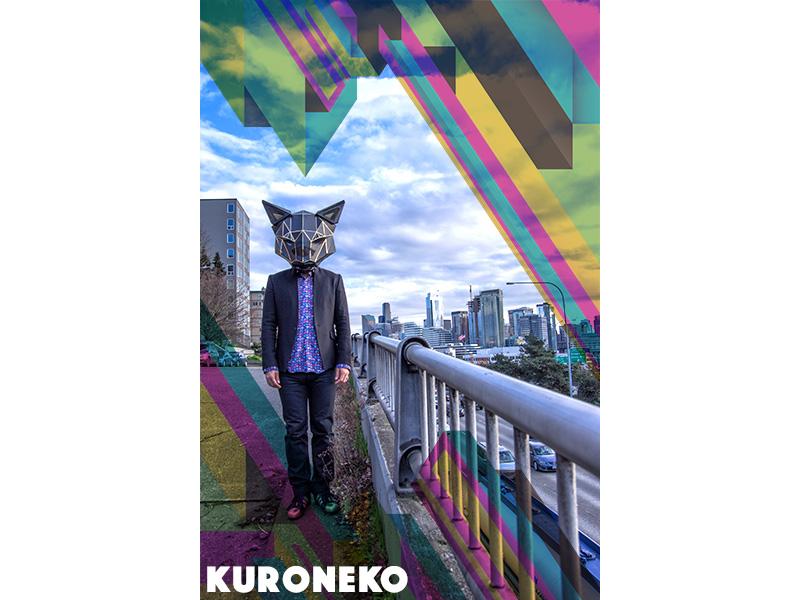 Kuroneko Promo Poster illustrator lightroom photoshop photography typography design graphic design