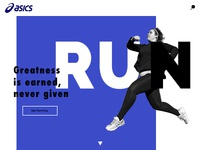 Asics Homepage Concept