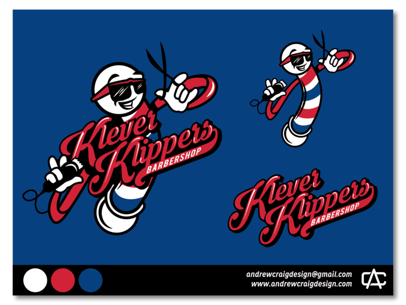 Klever Klippers Brand Development design branding vector illustration logo icon graphic design