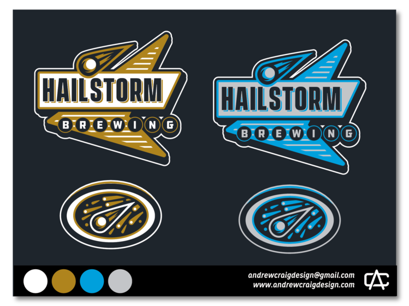 Hailstorm Brewing Rebranding graphic design icon brand logo design design branding vector logo